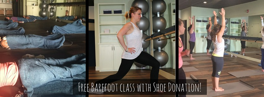 Barefoot Class Free with Donation of Shoes and Socks